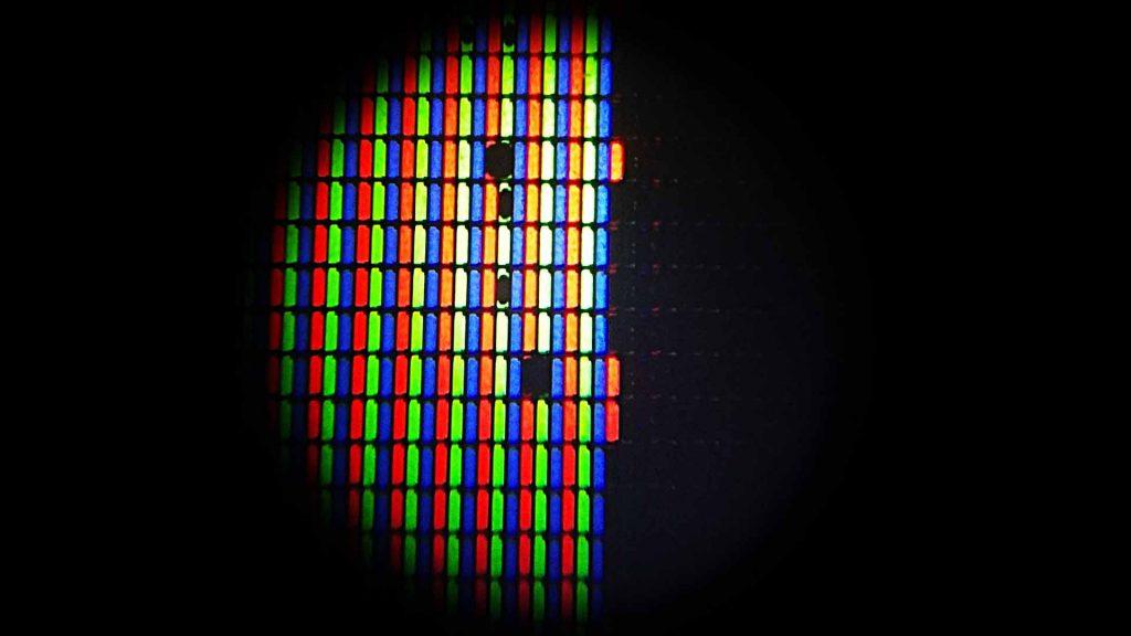 Uszkodzenie kryształów matrycy LCD